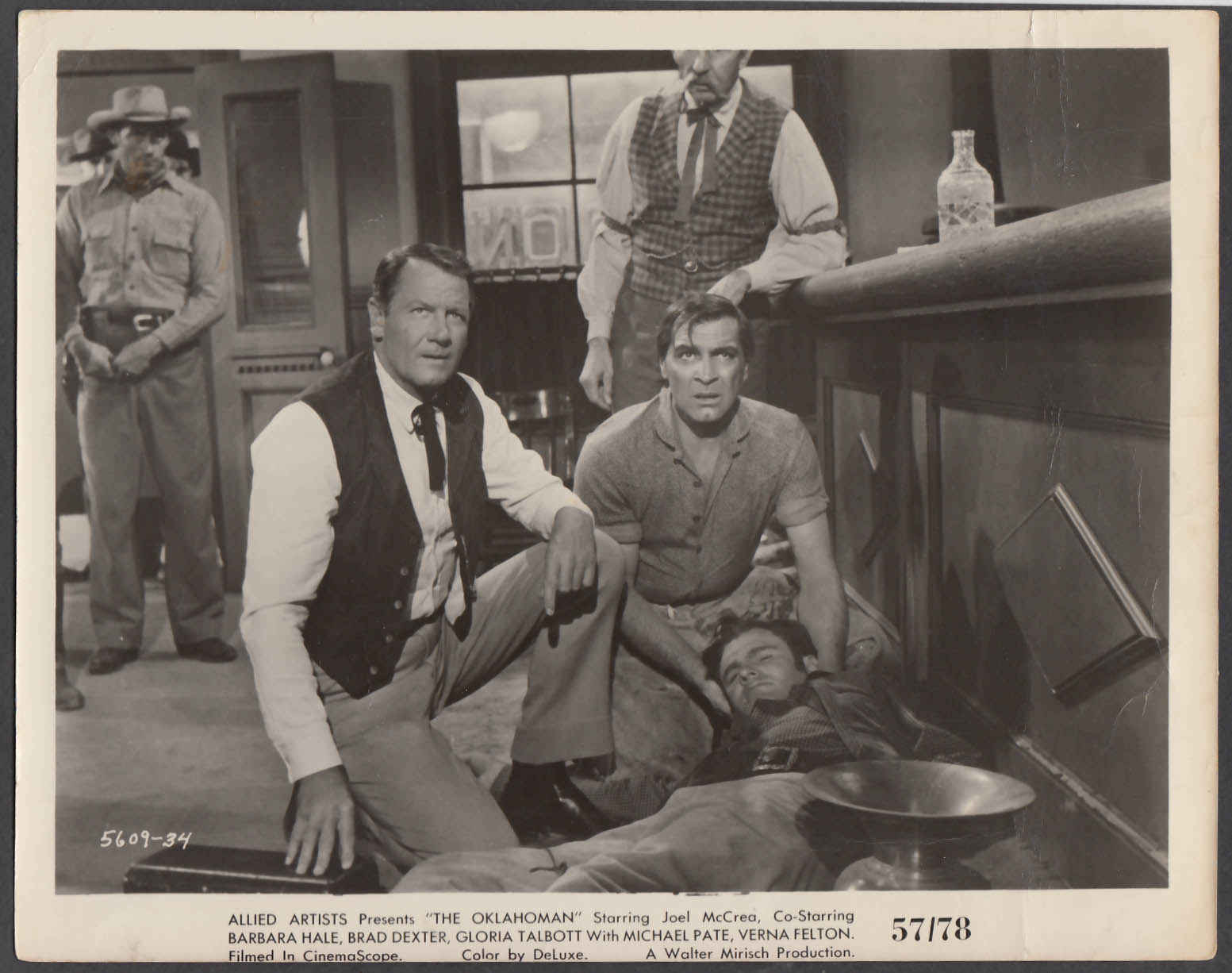 Image for Joel McCrea & Michael Pate in The Oklahoman 8x10 publicity photo 1957