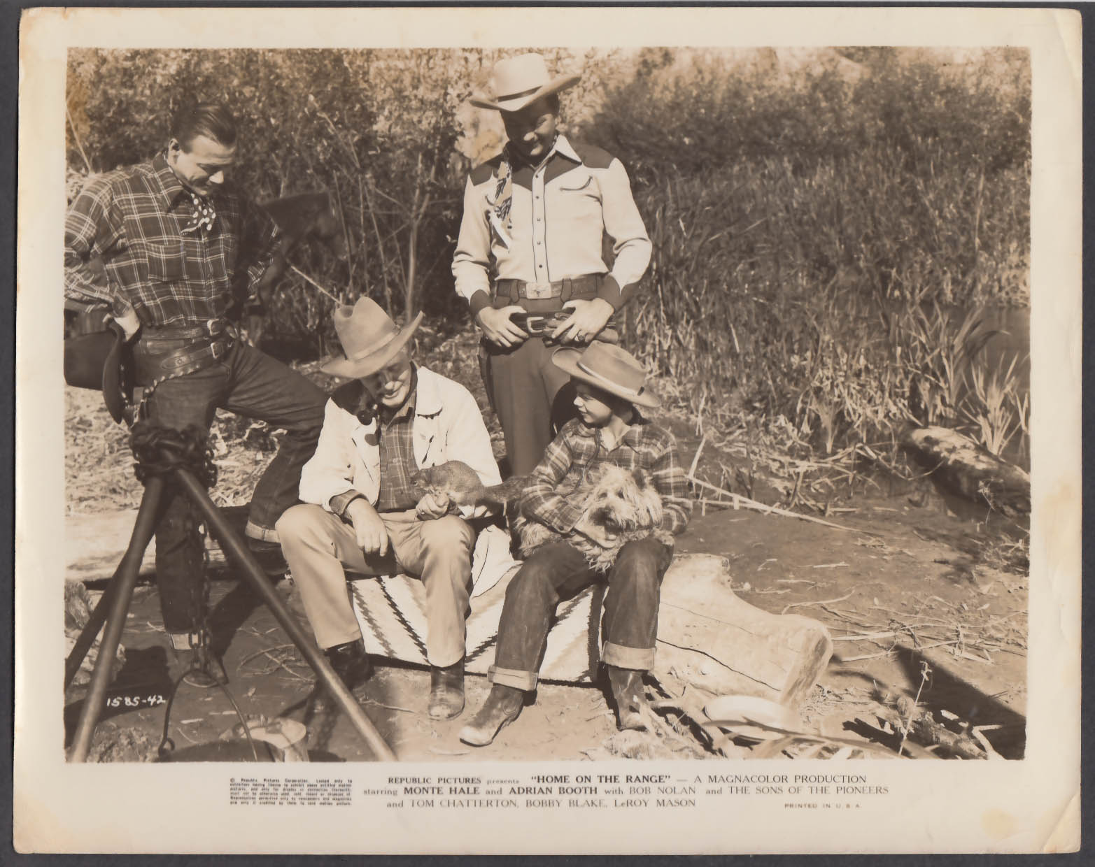 Image for Bob Nolan & Monte Hale in Home on the Range 8x10 photo 1946