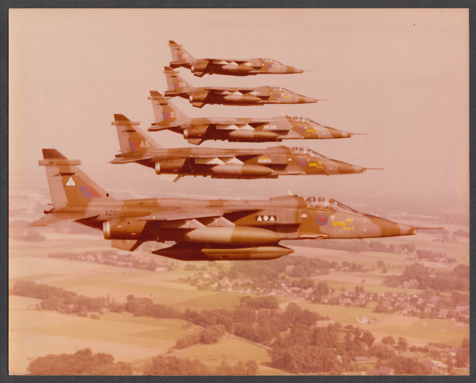 Image for RAF Squadron Leader Bill Langworthy in Jaguar 8x10 photo