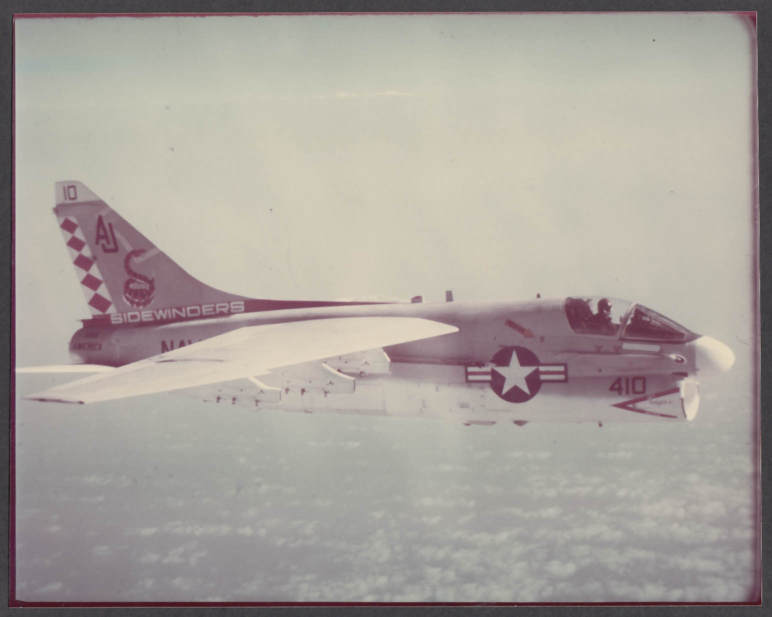 Image for US Navy VFA-86 Sidewinders A-7C in flight 8x10 photo 1972