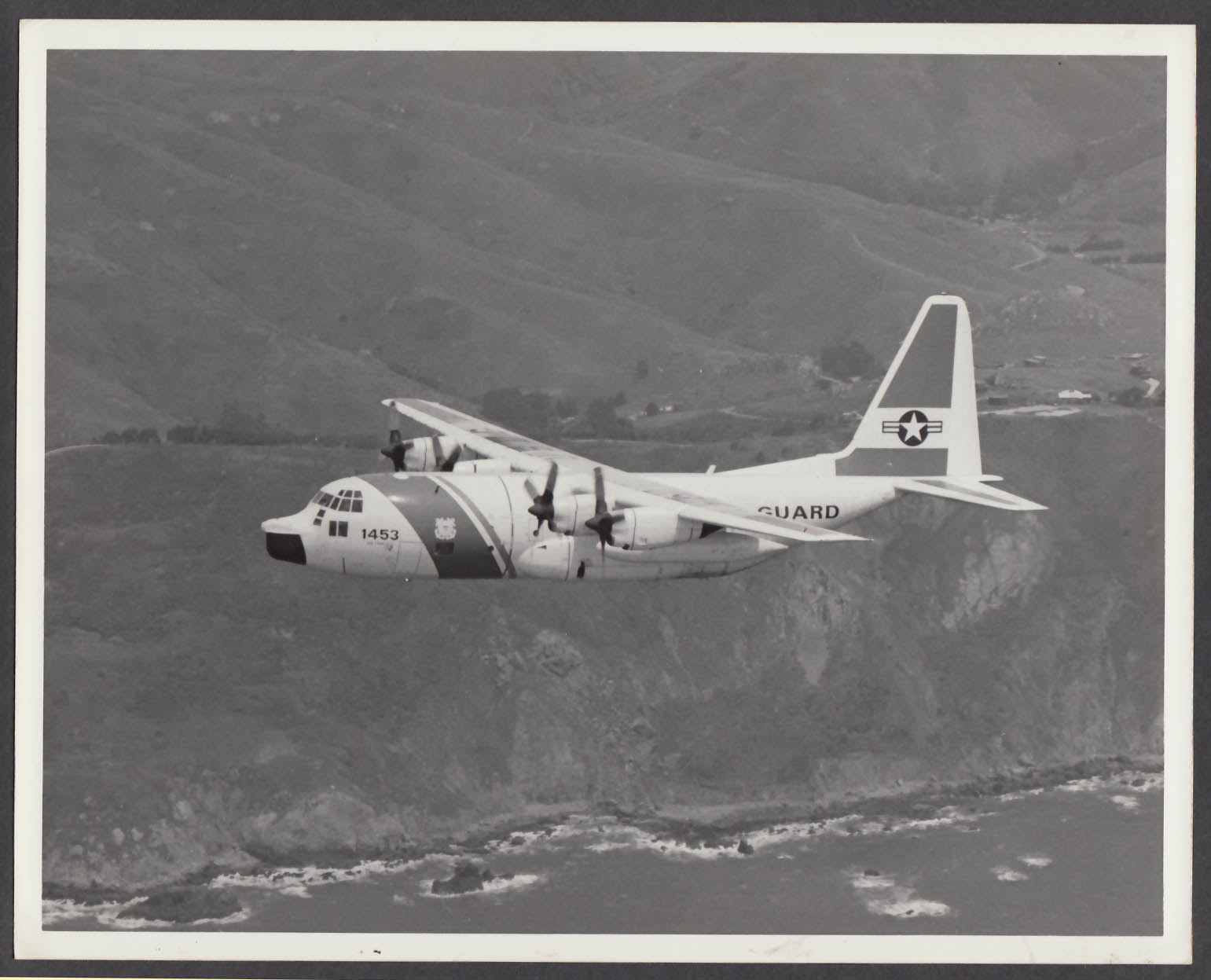Image for US Air National Guard C-130 1453 8x10 photo