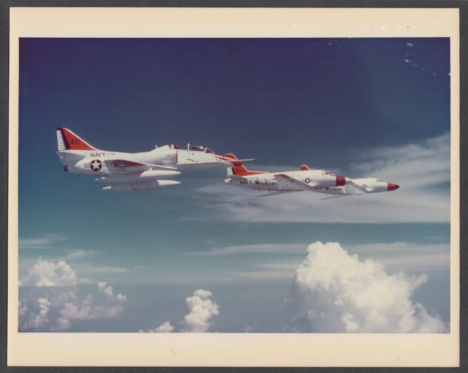 Image for US Navy VT-86 TA-4J T-39 trainer jets in flight 8x10 photo