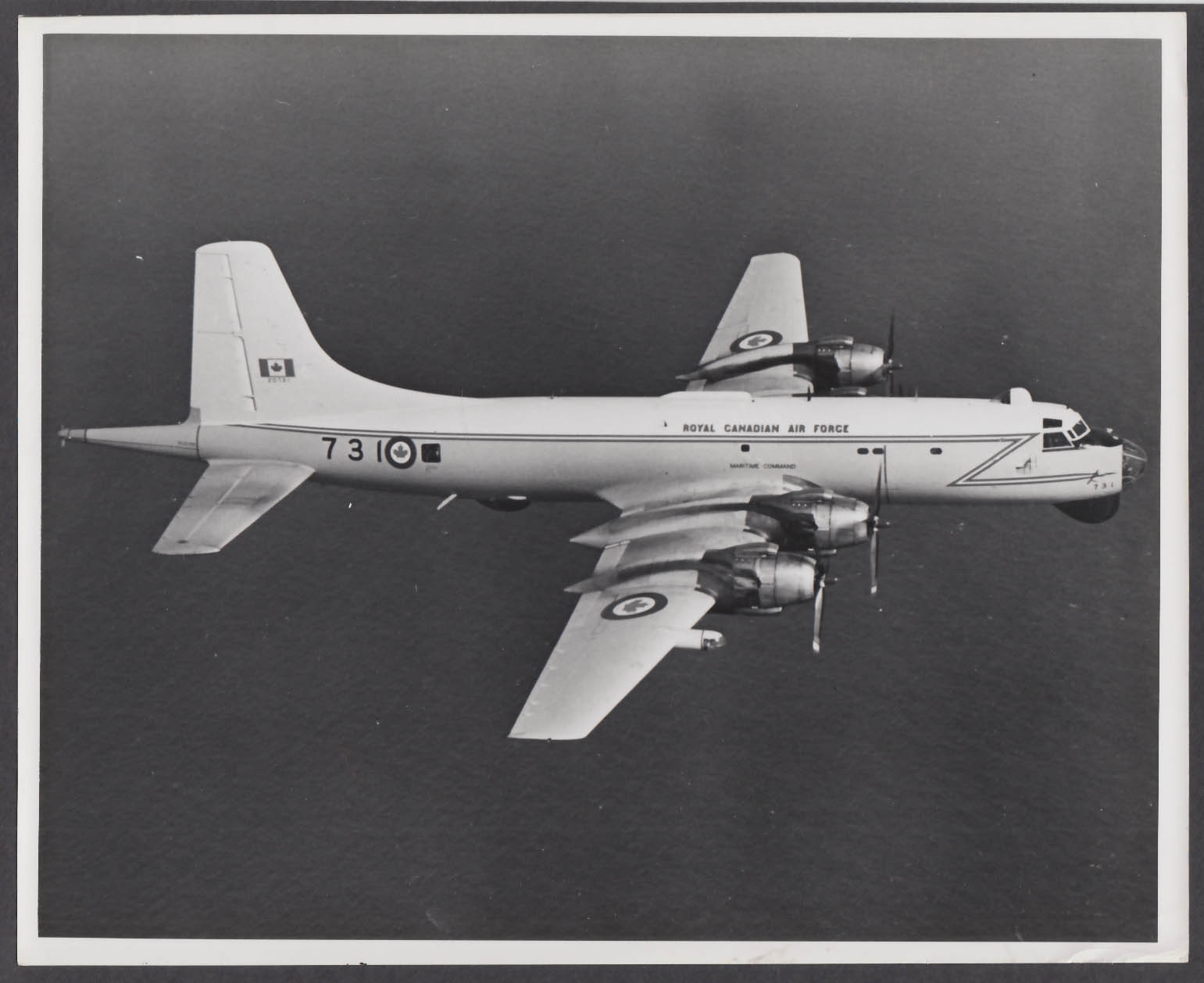 Image for Royal Canadian Air Force Maritime Command CP-140 Aurora 8x10 photo