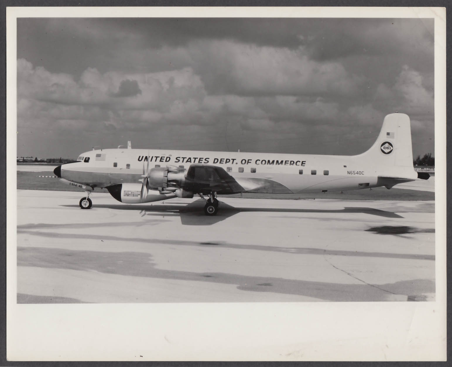 Image for United States Department of Commerce ESSA 40 DC-6A 8x10 photo 1960s
