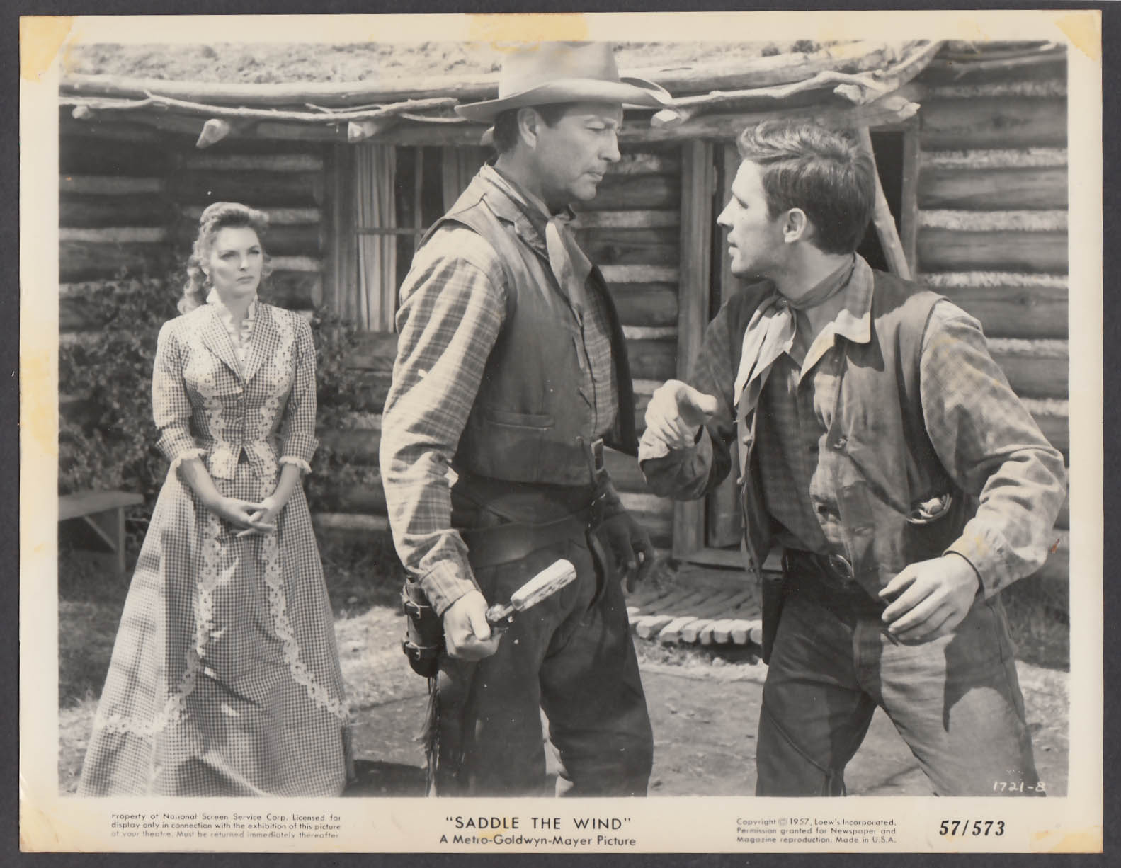 Image for Julie London Robert Taylor John Cassavetes in Saddle the Wind 8x10 photo 1957