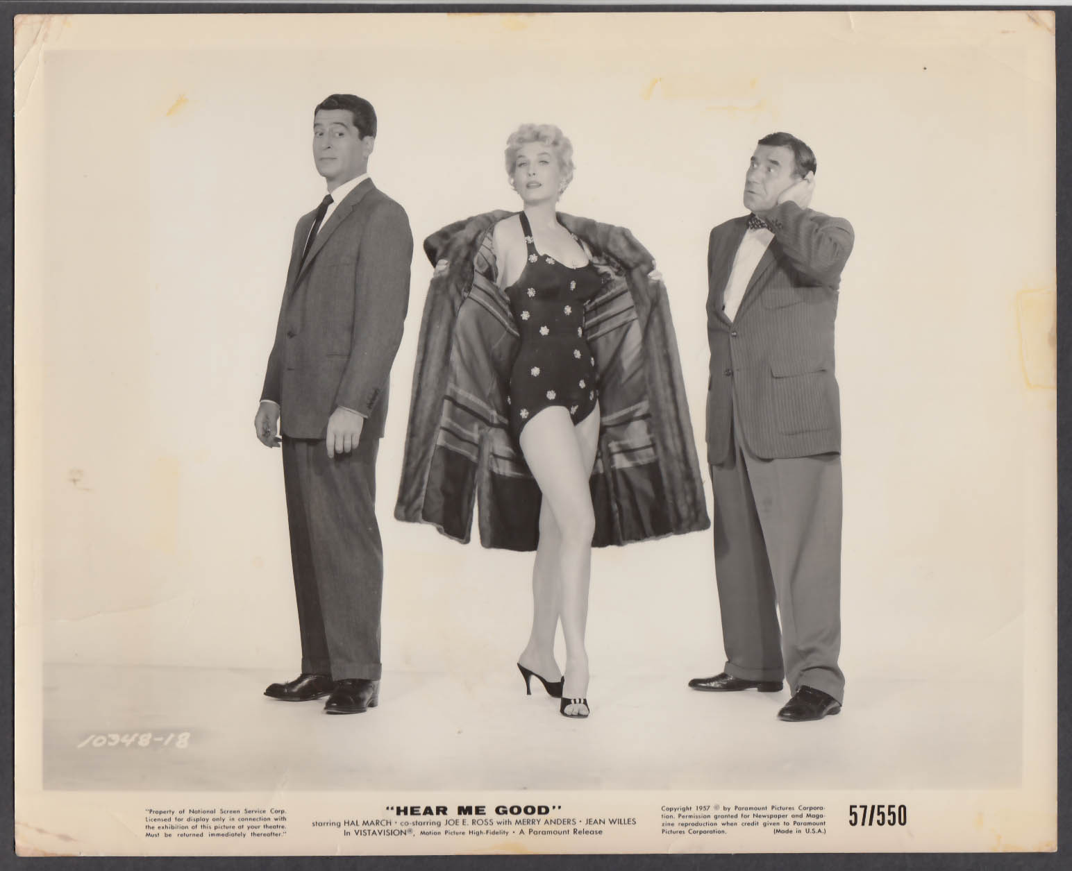 Image for Hal March Merry Anders Joe E Ross Hear Me Good 8x10 publicity photo 1957