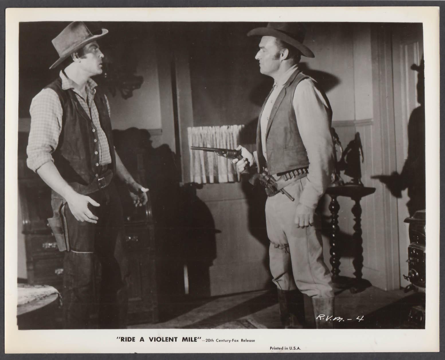 Image for John Agar Ride a Violent Mile 8x10 publicity photo 1957