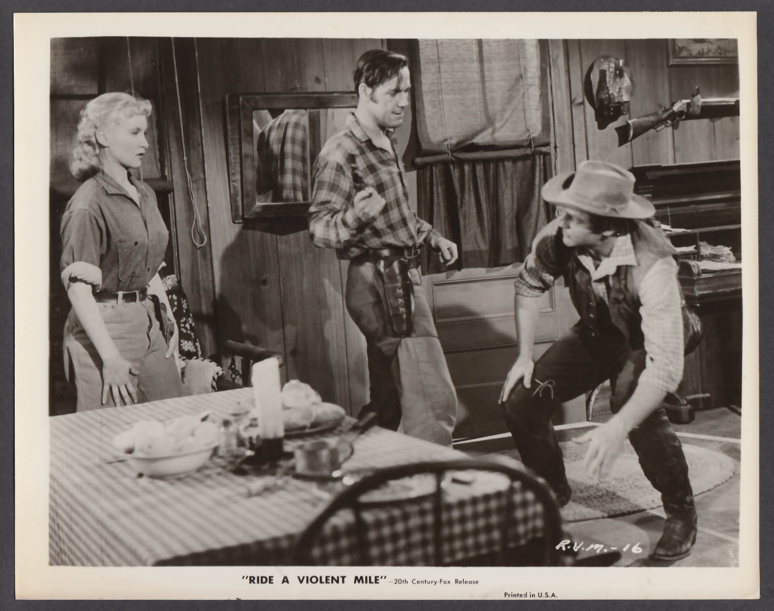 Image for Penny Edwards Bing Russell John Agar Ride a Violent Mile 8x10 photo 1957