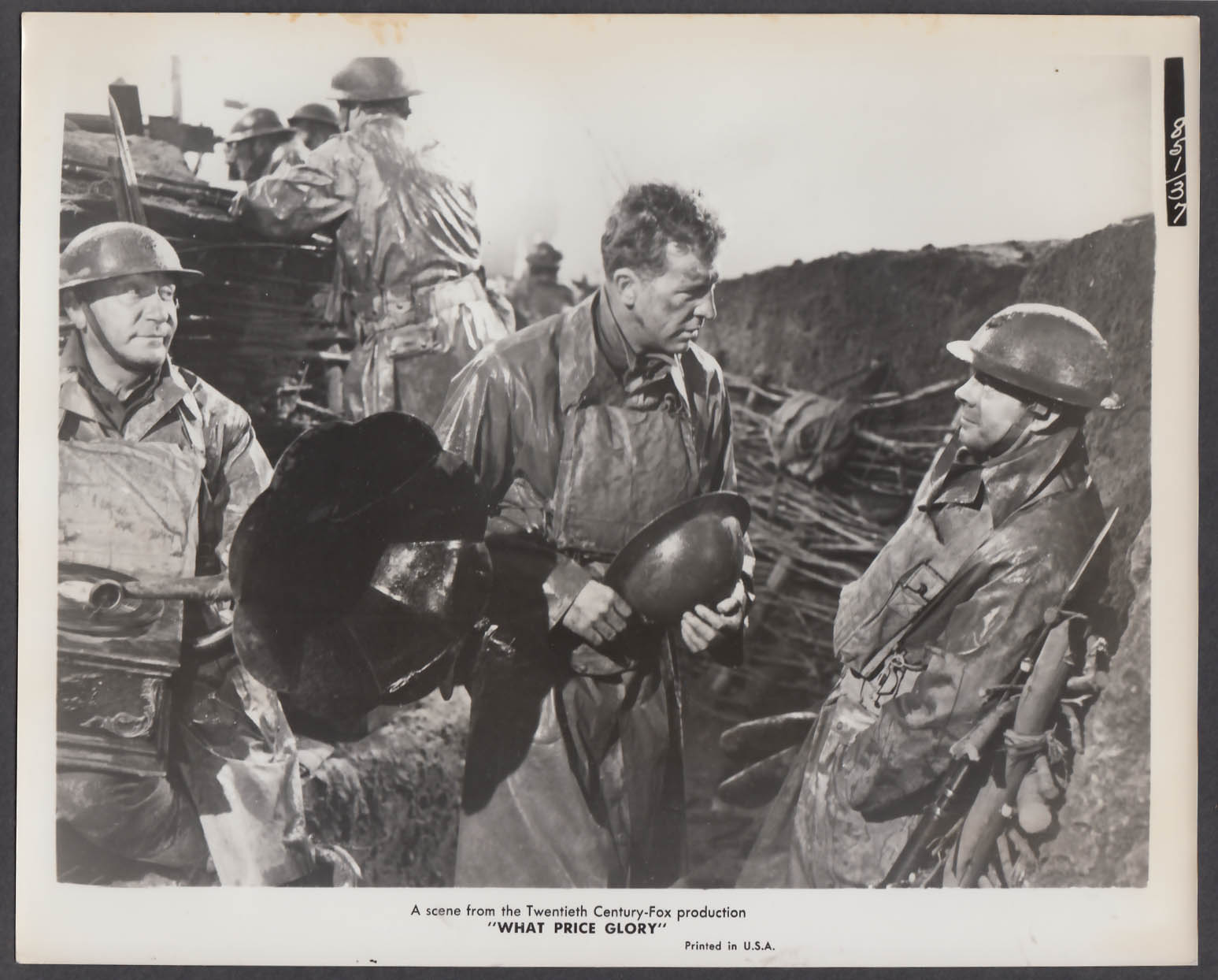 Image for What Price Glory 8x10 publicity photo 1952 trenches