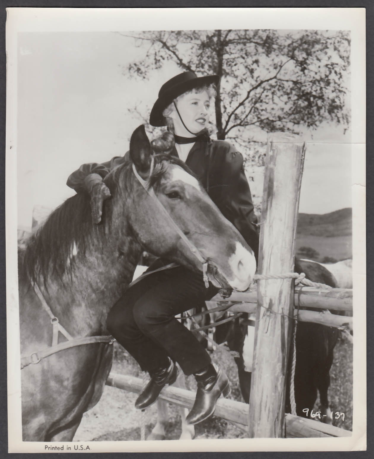 Image for Barbara Stanwyck in Forty Guns 8x10 publicity photo 1957