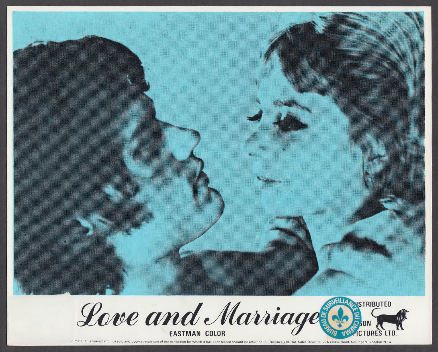 Love and Marriage 8x10 lobby card 1973