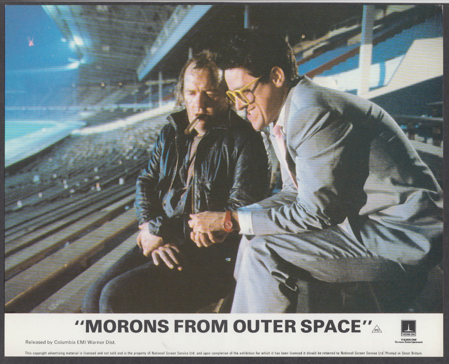 Morons from Outer Space 8x10 lobby card 1985 stadium scene