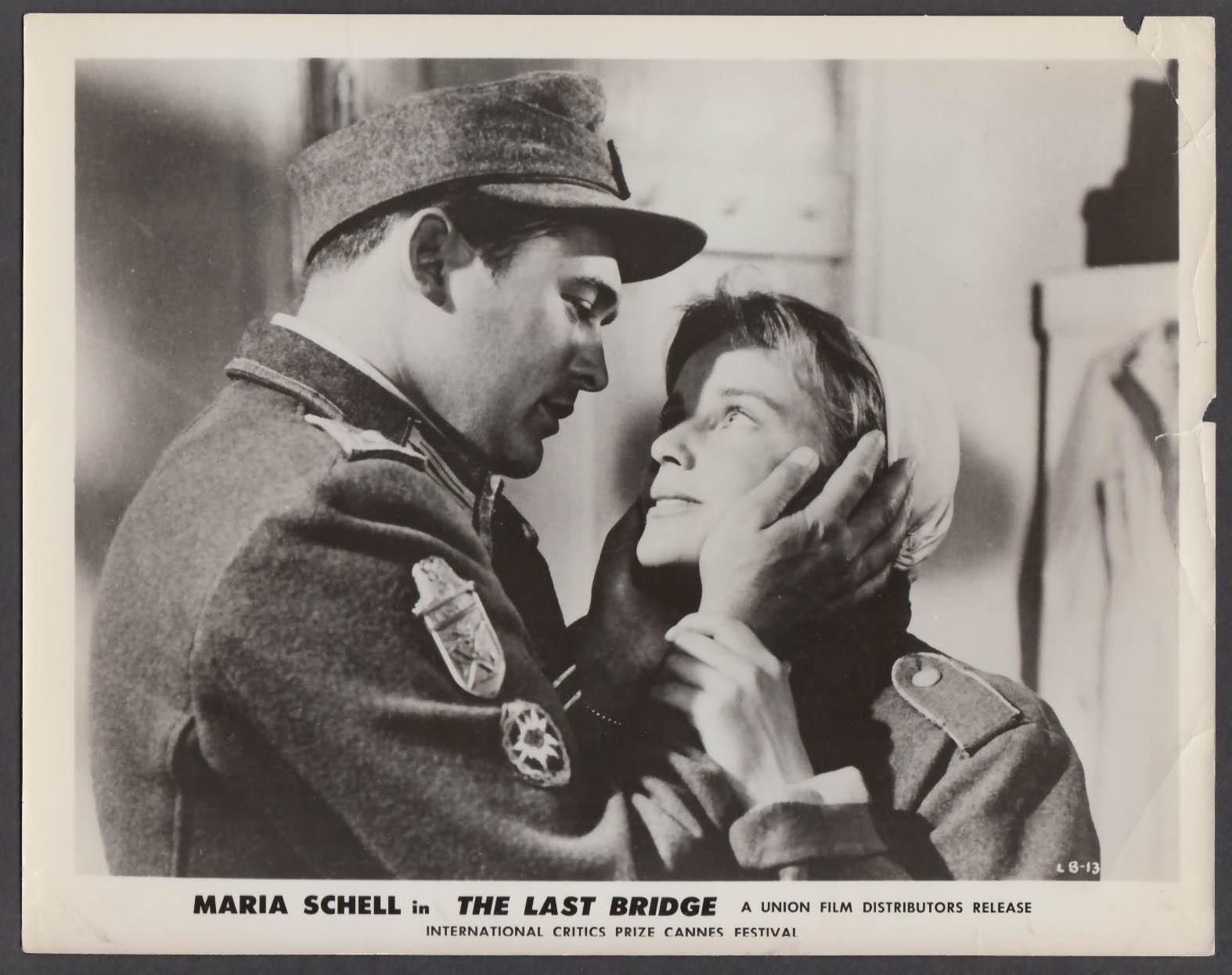Carl Mohner & Maria Schell in The Last Bridge 8x10 publicity photo 1954
