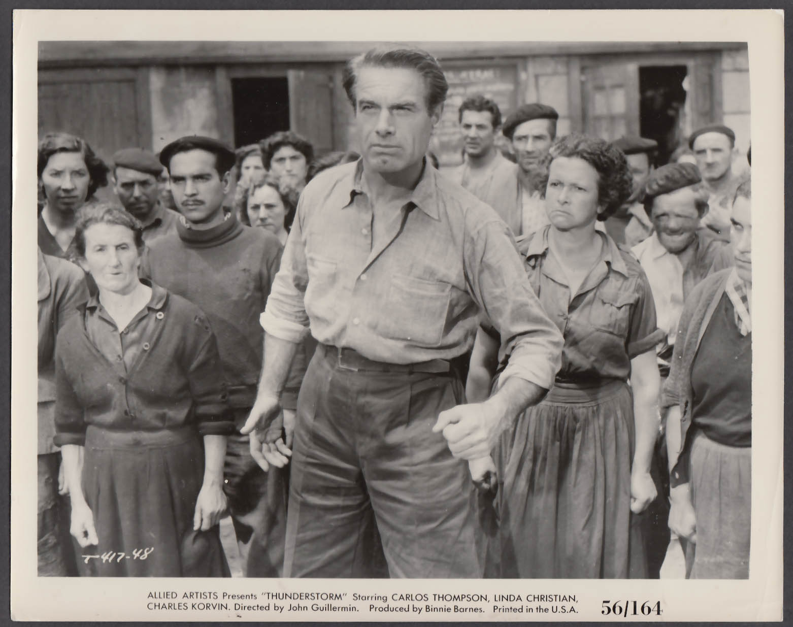 Image for Charles Korvin in Thunderstorm 8x10 publicity photo 1956