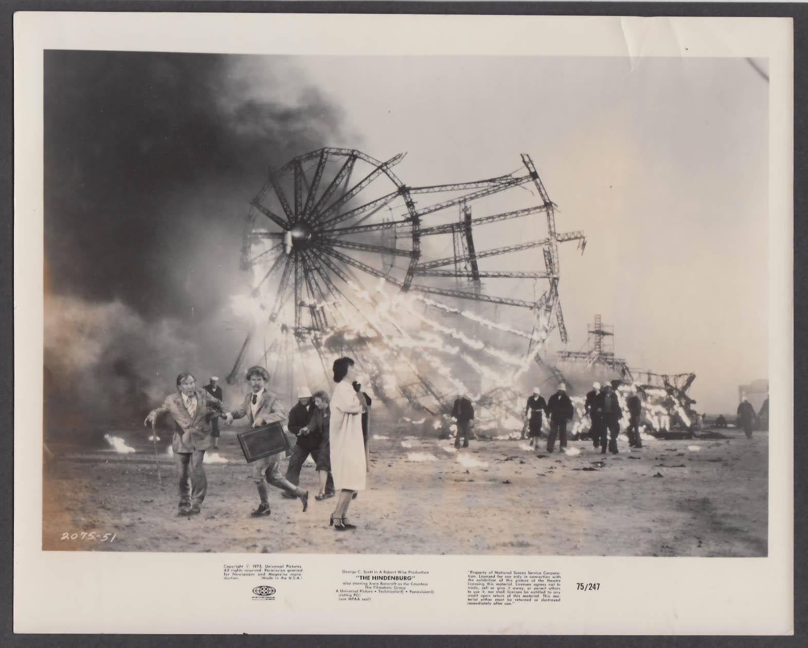 Image for The Hindenburg 8x10 publicity photo 1975 burning wreck