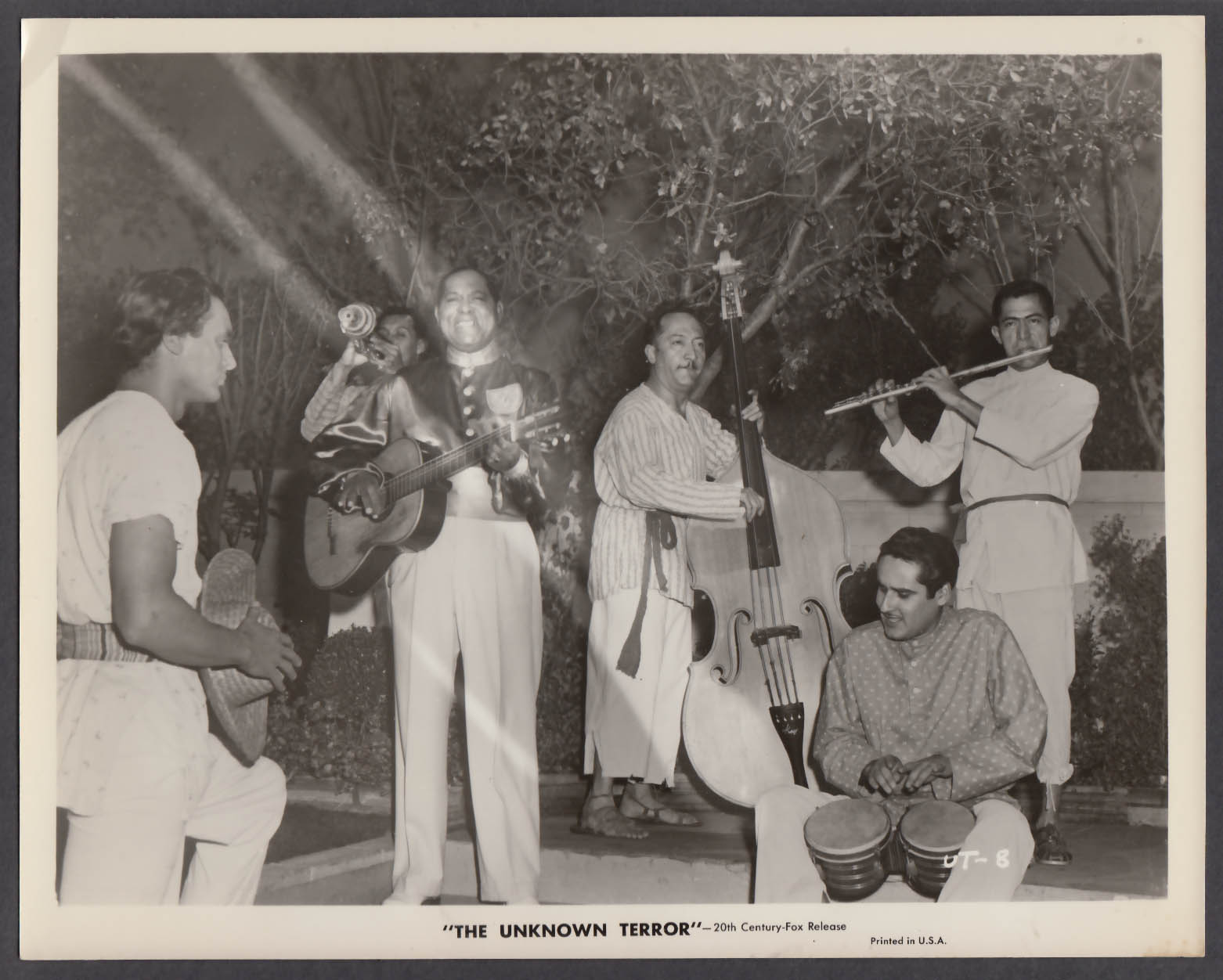 Sir Lancelot band in The Unknown Terror 8x10 publicity photo 1957