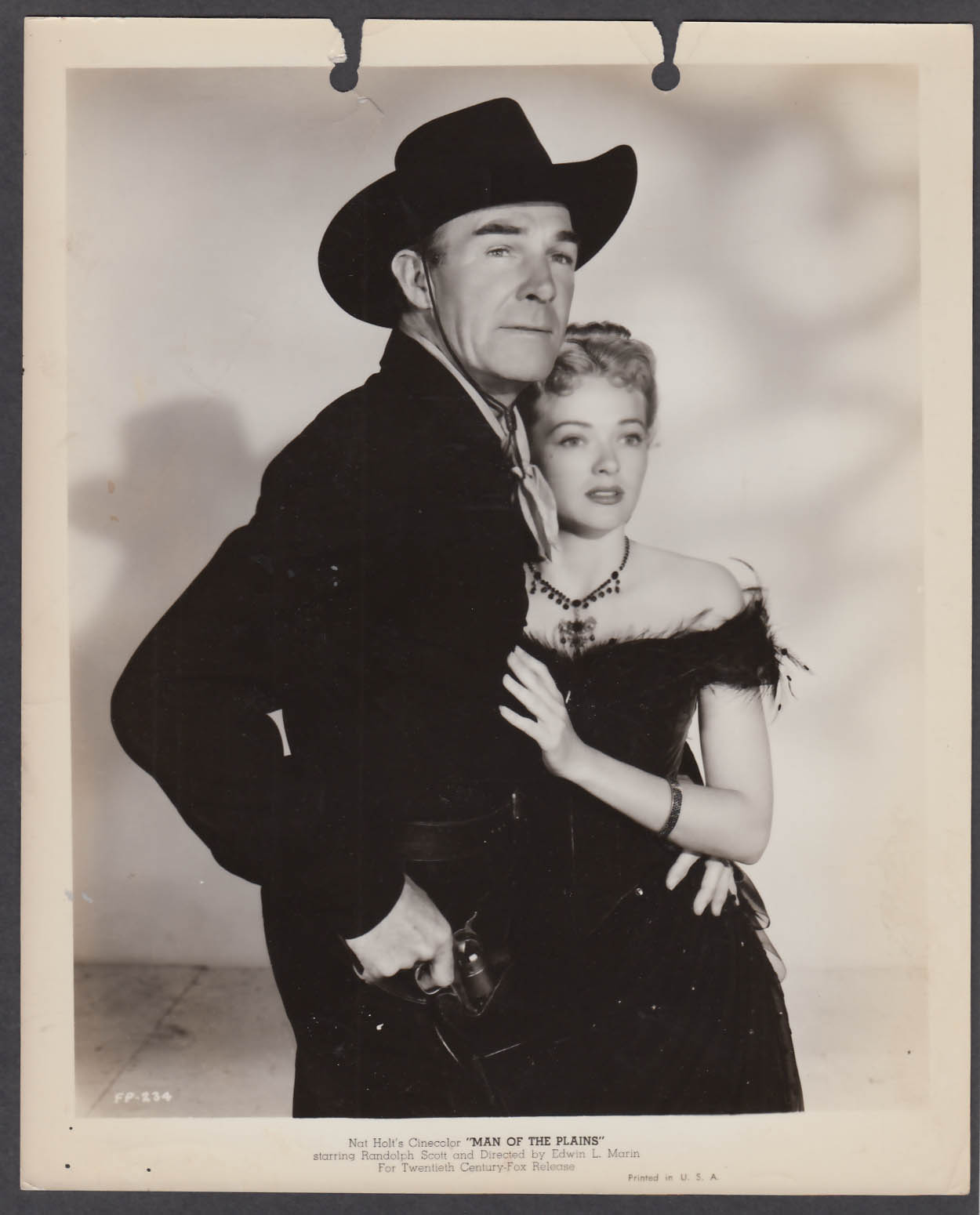 Image for Fighting Man of the Plains 8x10 publicity photo 1949 Randolph Scott Jane Nigh