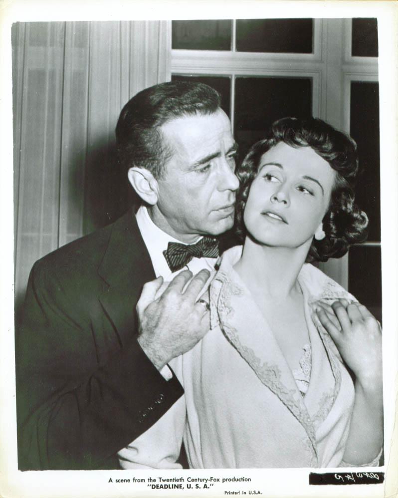 Humphrey Bogart Kim Hunter Deadline U S A 8x10 1952