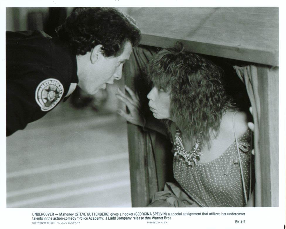 Steve Guttenberg Georgina Spelvin Police Academy 8x10 1984