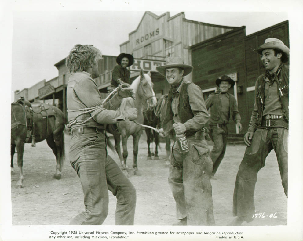 Kirk Douglas roped Man Without a Star 8x10 1955
