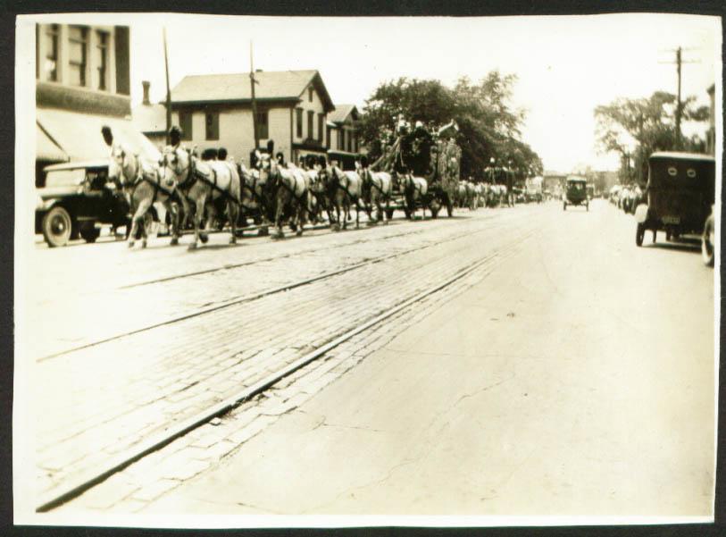 Al G Barnes Circus 10-Horse Hitch 5x7 1923