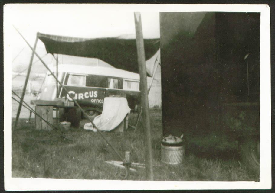 Kay Burns Circus Office Trailer 5x7 1947
