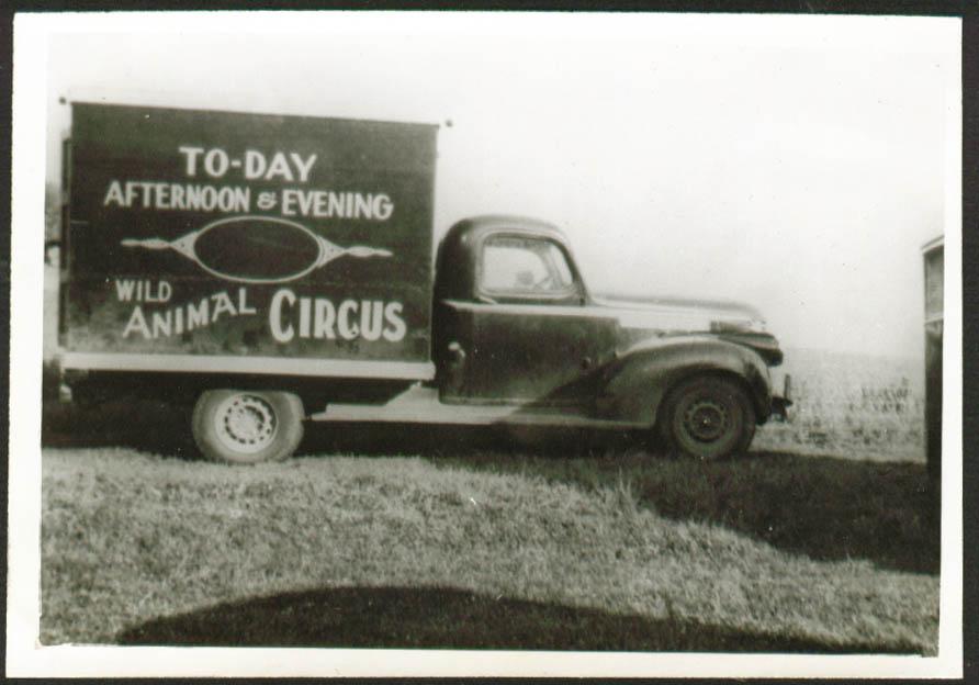 Kay Burns Circus Prop & Seat Truck 5x7 1947
