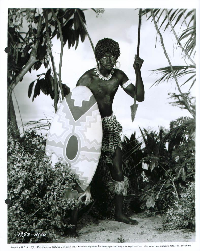 Alvin Hilliburton tribal warrior Tanganyika 8x10 1954