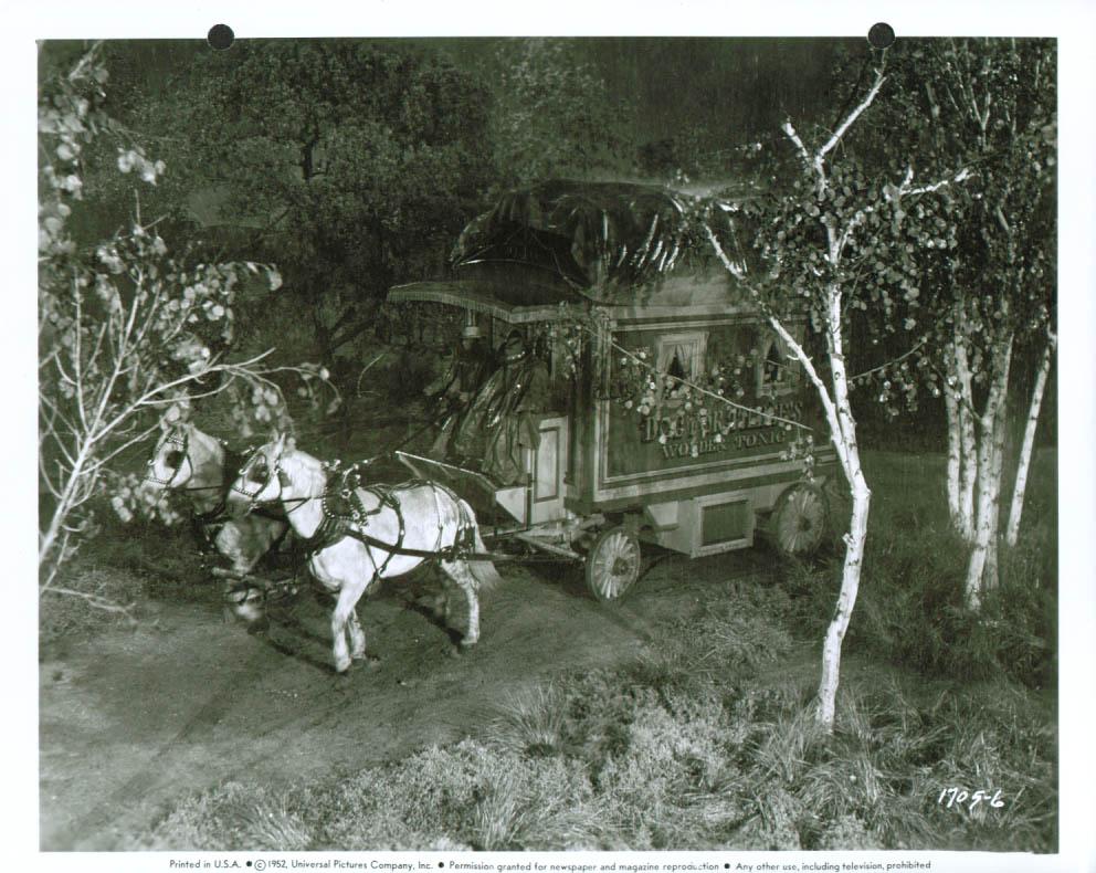 Medicine Show wagon Meet Me At The Fair 8x10 1952