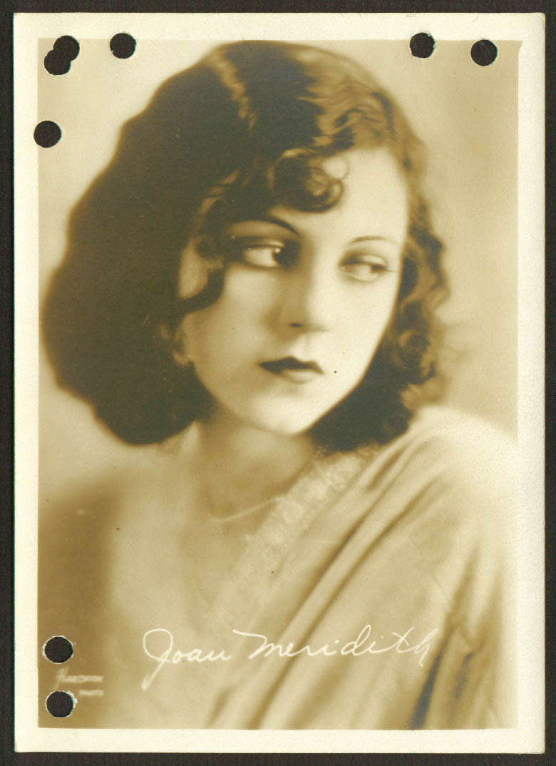 Joan Meredith film actress 1930s 5x7 1905-1980