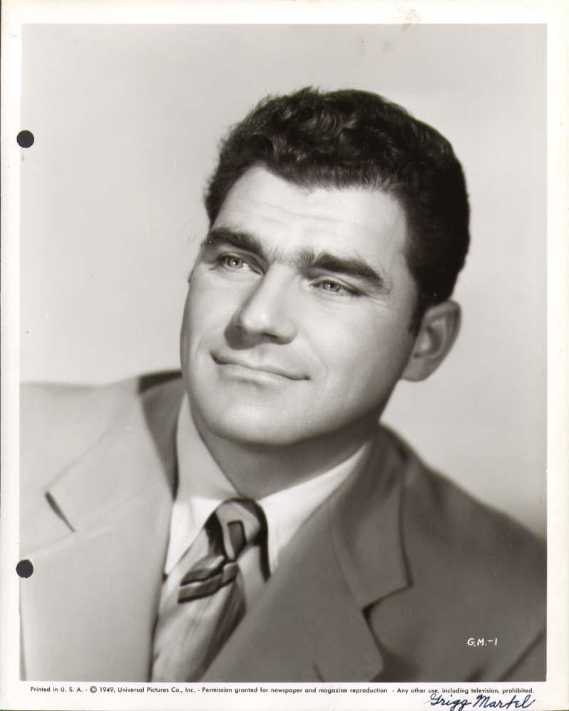 Actor Gregg Martel studio publicity still 8x10 1949