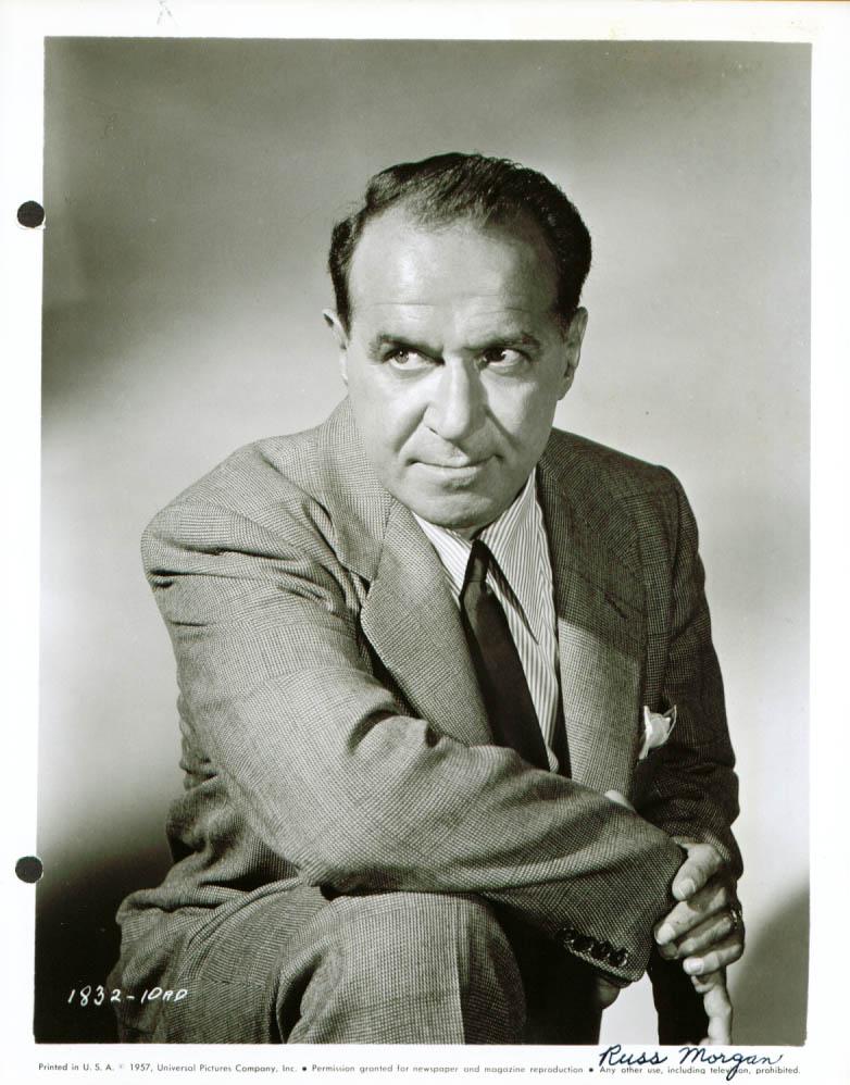 Actor Russ Morgan studio publicity still 8x10 1957