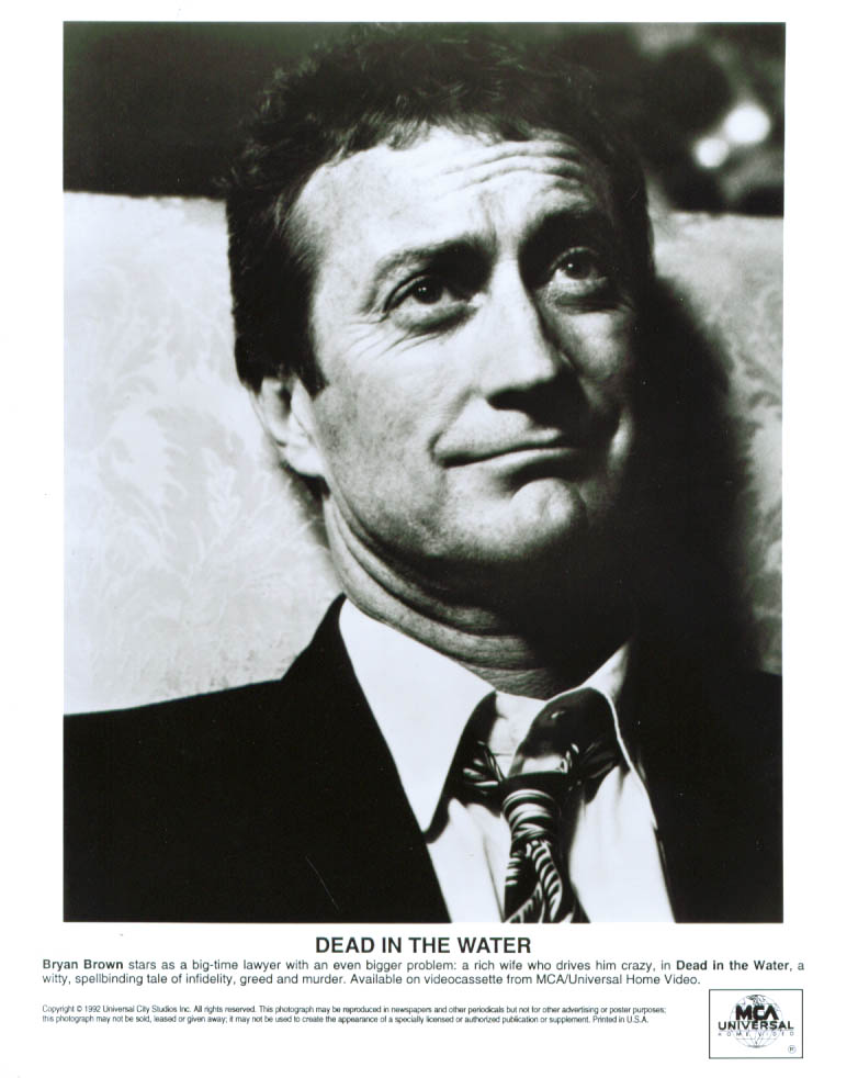 Bryan Brown in Dead in the Water 8x10 1991