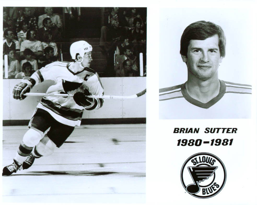 Brian Sutter St Louis Blues 8x10 1980-1981