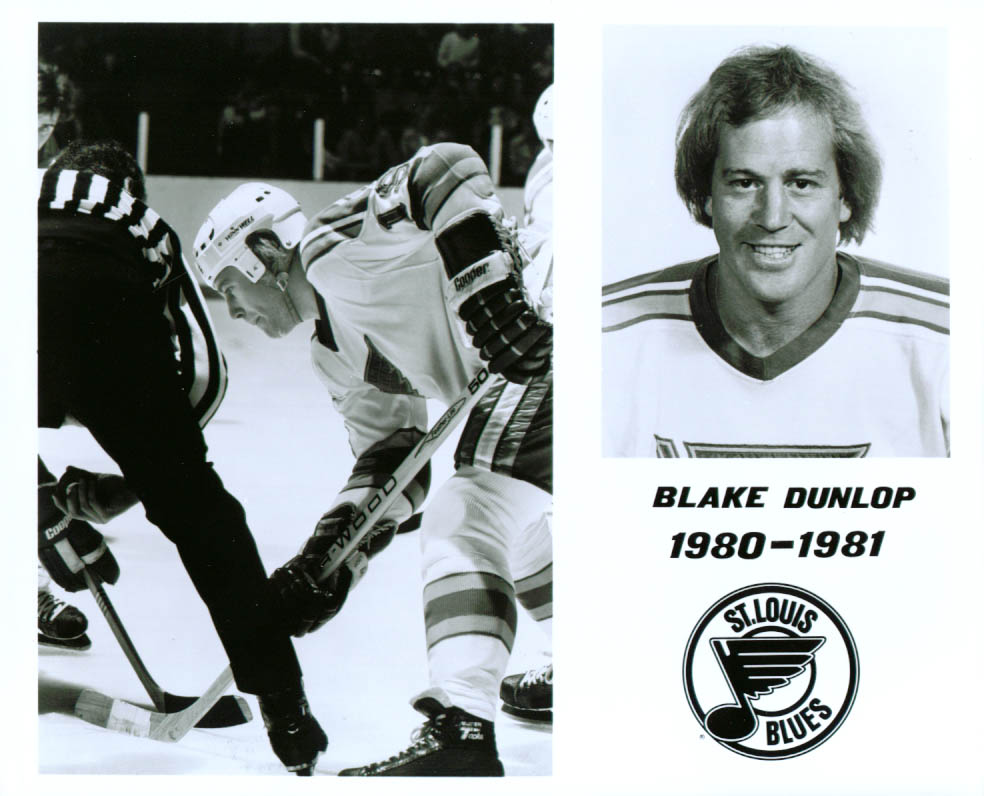 Blake Dunlop St Louis Blues 8x10 1980-1981