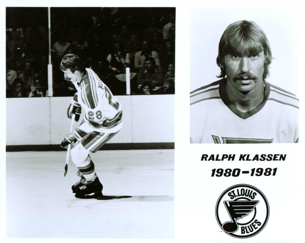Ralph Klassen St Louis Blues 8x10 1980-1981