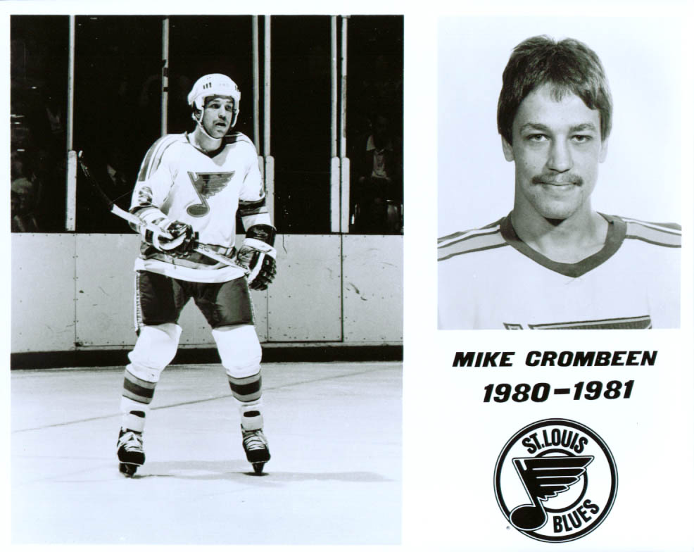 Image for Mike Crombeen St Louis Blues 8x10 1980-1981