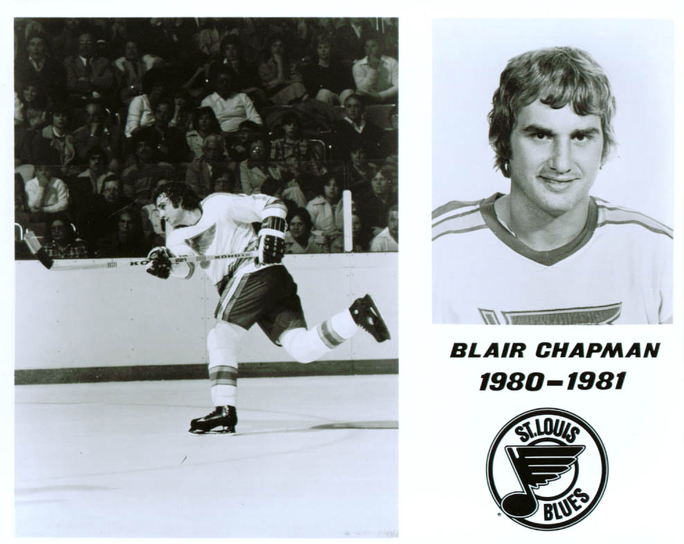 Blair chapman St Louis Blues 8x10 1980-1981