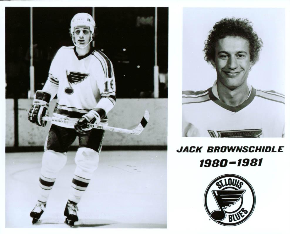 Image for Jack Brownschidle St Louis Blues 8x10 1980-1981