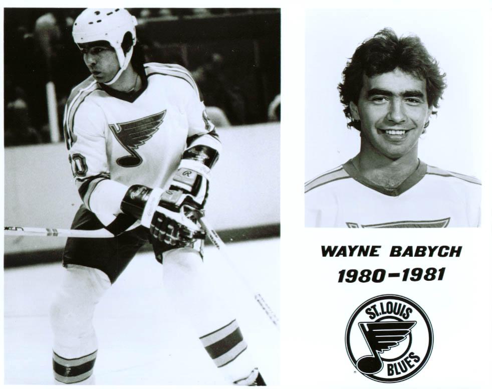 Wayne Babych St Louis Blues 8x10 1980-1981
