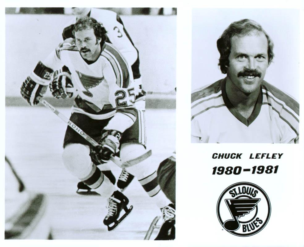 Chuck Lefley St Louis Blues 8x10 1980-1981