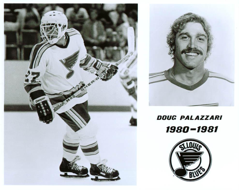 Doug Palazzari St Louis Blues 8x10 1980-1981