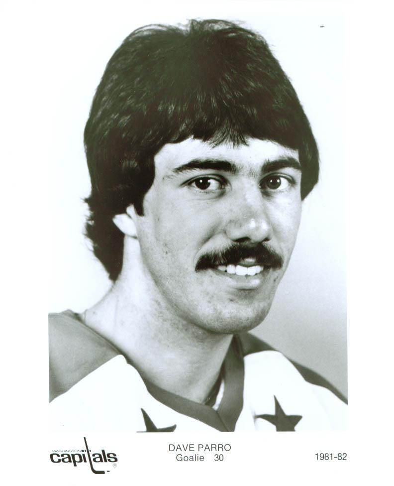 Dave Parro Washington Capitals 8x10 1981-1982