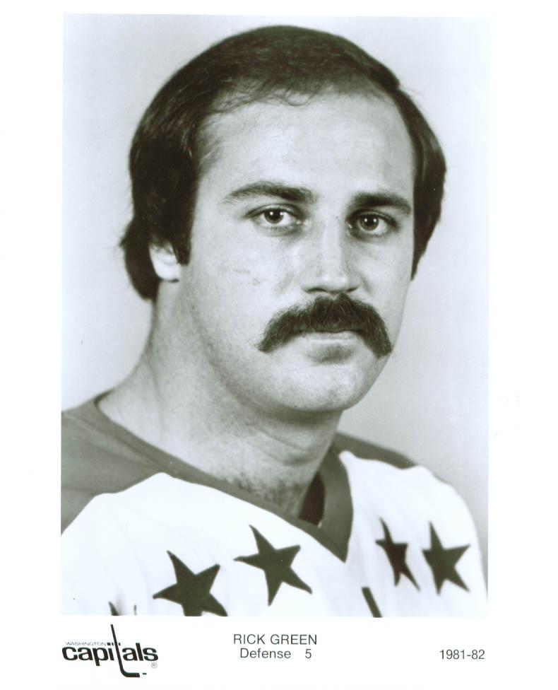 Image for Rick Green Washington Capitals 8x10 1981-1982
