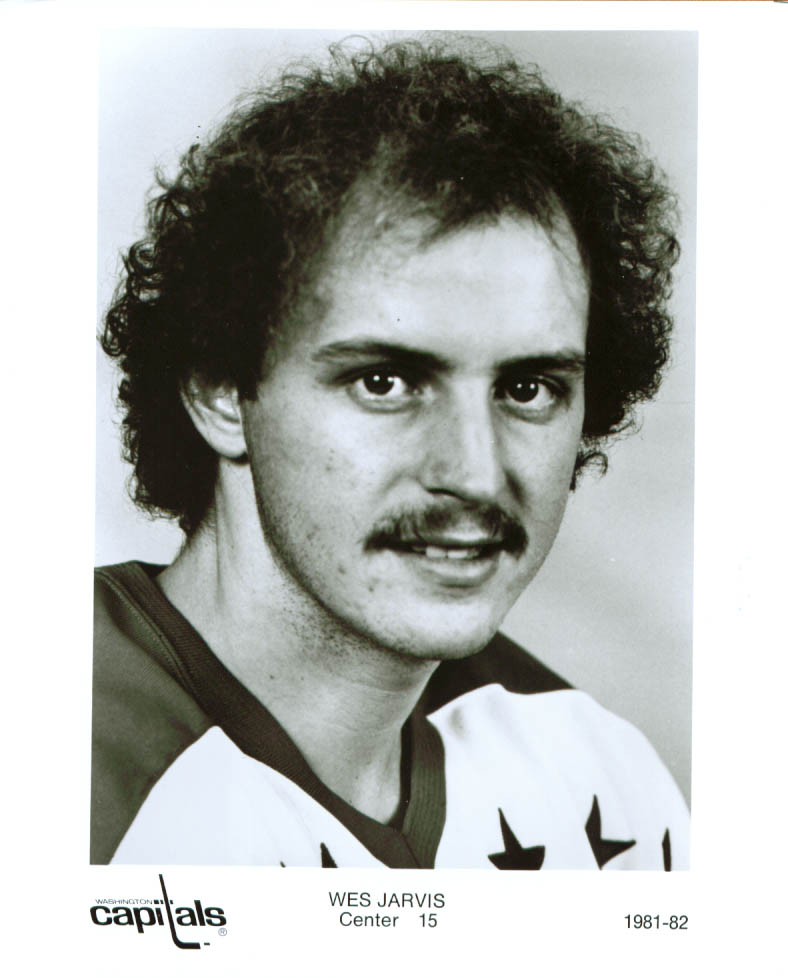Image for Wes Jarvis Washington Capitals 8x10 1981-1982