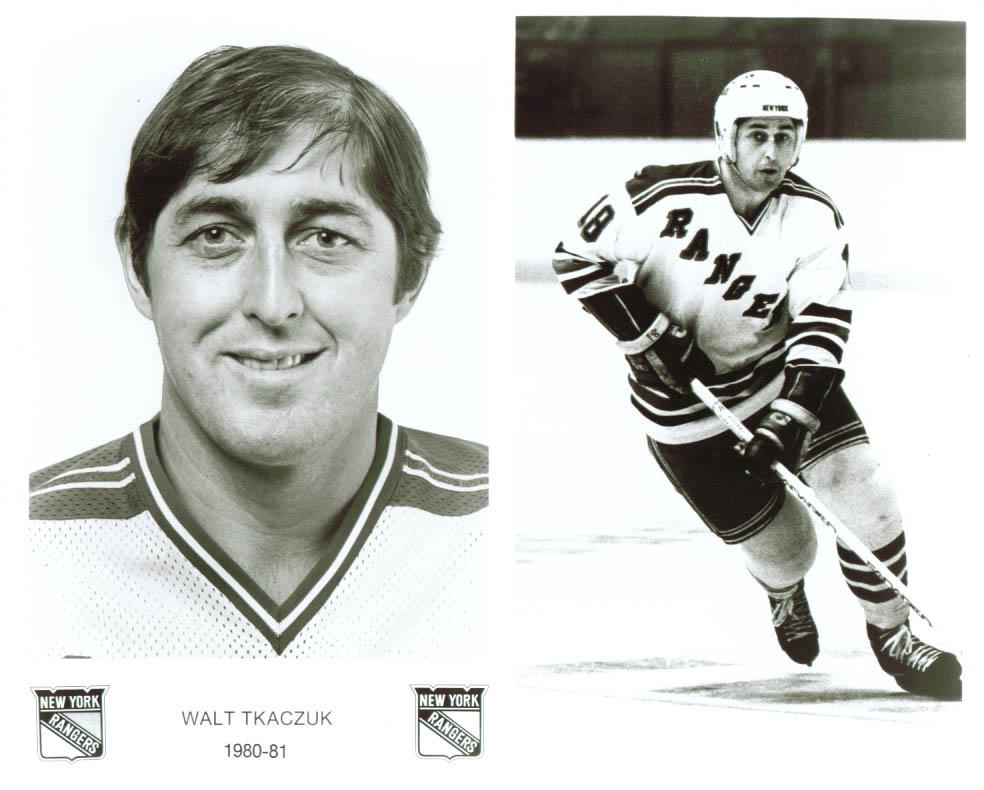 Walt Tkaczuk New York Rangers 8x10 1980-1981