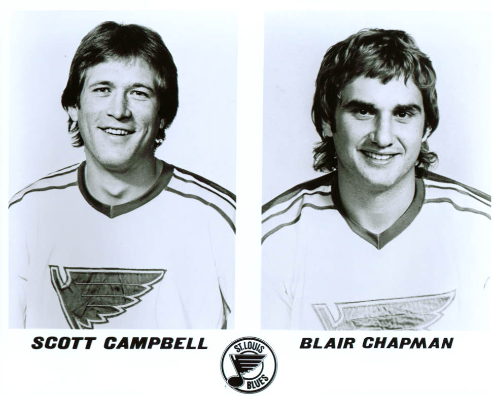 Campbell & Chapman St Louis Blues 8x10 1981-82