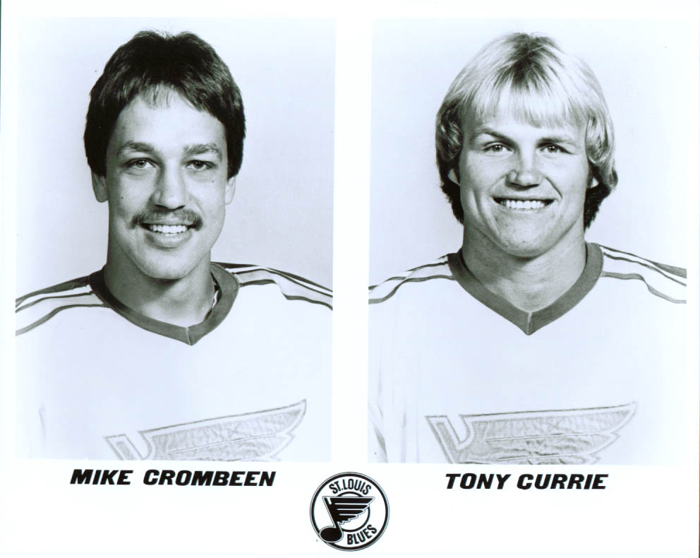 Crombeen & Currie St Louis Blues 8x10 1981-82