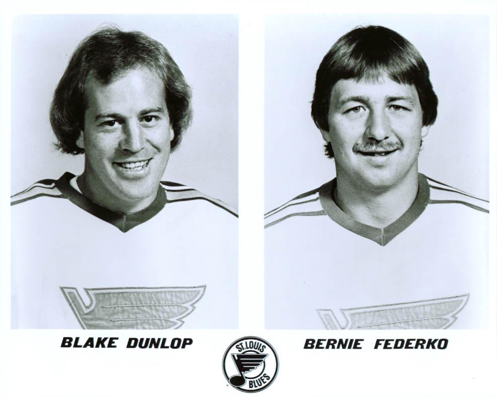 Dunlop & Federko St Louis Blues 8x10 1981-1982