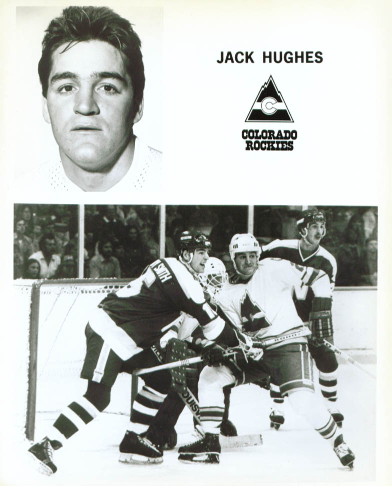 Jack Hughes Colorado Rockies 8x10 1979-1980